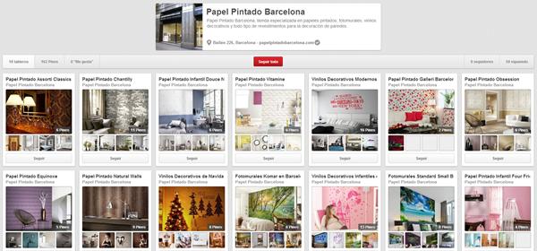Tiendas papel pintado barcelona papel de pared en for Papel pintado barcelona
